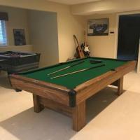 8 ft 3/4 inch Slate Brunswick, Bristol II Pool Table