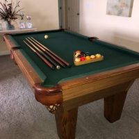 7' Olenhausen Pool Table With Ping Pong Top