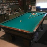 Green Felt Pool Table in Good Condition